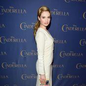 Lily James usa book clutch da Cinderela de R$4.500 para divulgar filme no Canadá