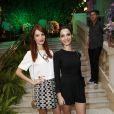 Michelle Batista e Giselle Batista prestigiaram a festa de aniversário de Carol Sampaio