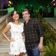 Carol Sampaio posa com o namorado, Guilherme Schleder