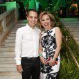 Astrid Fontenelle e Fausto Franco foram à festa de aniversário de Carol Sampaio