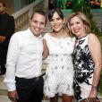 Carol Sampaio posou ao lado de Astrid Fontenelle e Fausto Franco