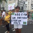 Solange Couto foi outra famosa que aderiu ao movimento anti-Dilma Rousseff