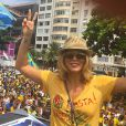 Christine Fernandes participou da manifestação no Rio de Janeiro
