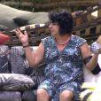 Mariza questionou Cézar em relação a Andressa, participante do 'BBB15' que se revezou com a irmã gêmea, Amanda: 'Crente que ia pegar, né?'