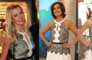 Noiva de Roberto Justus usa mesmo vestido de Fátima Bernardes e Bruna Marquezine