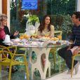 Nanda Costa e Rodrigo Lombardi conversam com Ana Maria Braga no 'Mais Você'