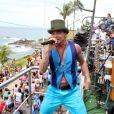 Netinho é fotografado durante o último Carnaval de Salvador