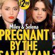 Miley Cyrus debocha de notícia de que estaria grávida do mesmo homem que Selena Gomez. 'É do mesmo homem, quer dizer Justin Bieber'