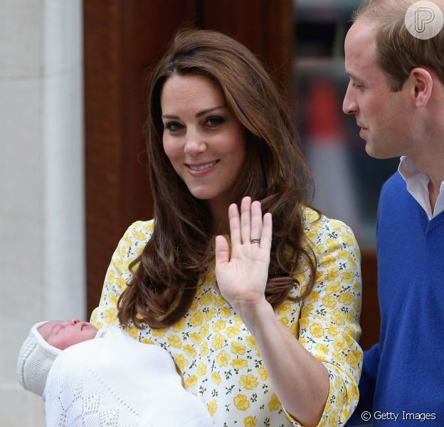 Kate Middleton e Príncipe William escolhem o nome da filha: 'Charlotte Elizabeth Diana'. Palácio de Kensington fez o anúncio nesta segunda-feira, 4 de maio de 2015
