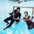 Rodrigo Simas e Juliana Paiva mostraram sintonia também debaixo d'água, em um ensaio fotográfico em comemoração pelos 20 anos de 'Malhação', novela na qual já viveram um par romântico