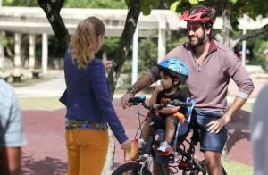 Angélica grava o programa 'Estrelas' com o ator Eriberto Leão e seu filho, João