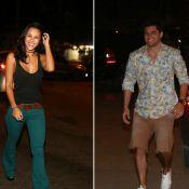 Bruno Gissoni e Yanna Lavigne vão separados à mesma festa e atriz beija outro