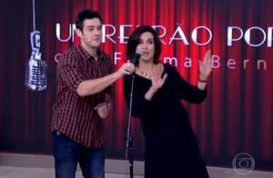 Fátima Bernardes canta e dança música do É o Tchan no 'Encontro': 'Estou suando'