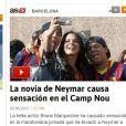 Bruna Marquezine foi destaque na mídia espanhola no dia em que Neymar virou oficialmente jogador do Barcelona
