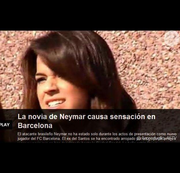 Bruna Marquezine: 'A namorada de Neymar causa sensação em Barcelona', diz a chamada do vídeo da 'ASTV'