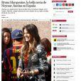 O jornal mexicano 'Excelsior' não ficou atrás: 'Bruna Marquezine, a bela namorada de Neymar, fascina a Espanha'