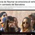 'Namorada de Neymar se emociona ao vê-lo com a camisa do Barcelona', disse o site 'Tuteve'