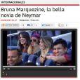 'A assinatura de Neymar com o Barcelona fará com que a sua bela namorada, Bruna Marquezine, visite a cidade muitas vezes e ela não passará incógnita', festejou o jornal 'Diez'