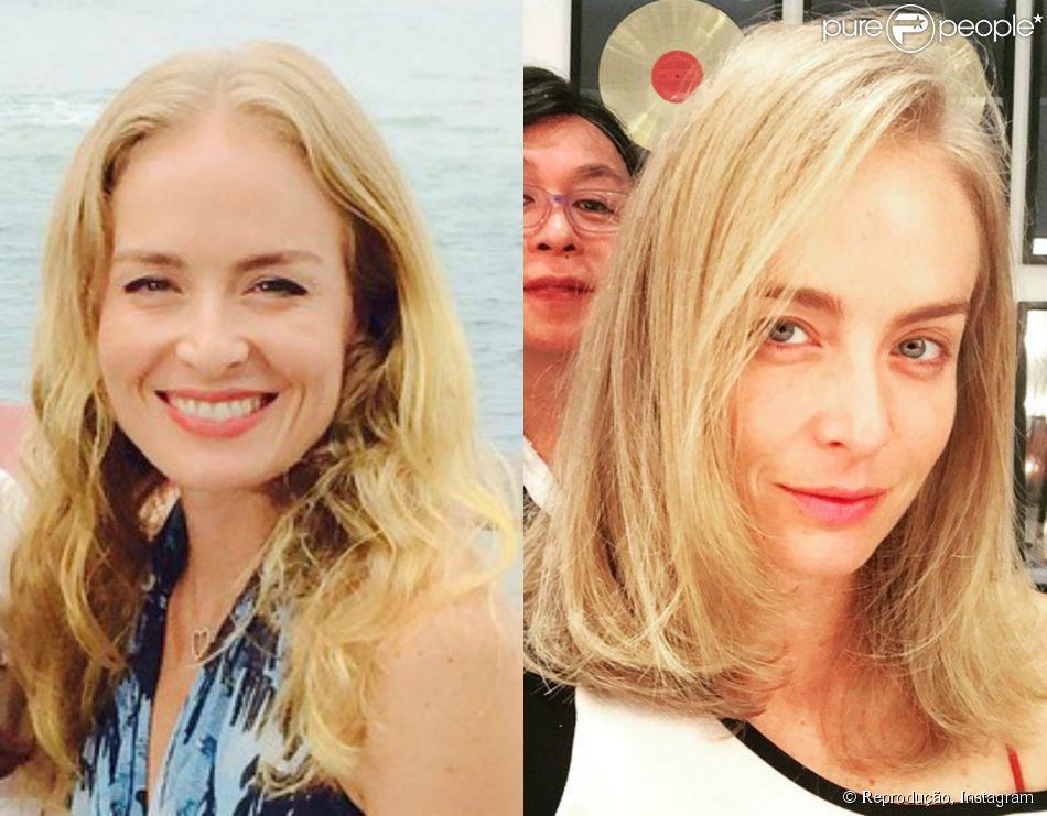 Angélica passa por transformação no visual e exibe novo corte com foto no Instagram nesta terça-feira, 02 de junho de 2015
