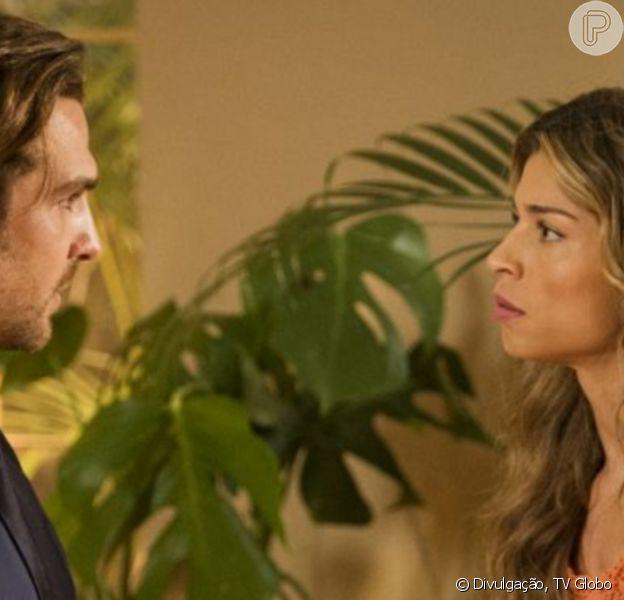 Na novela 'Flor do Caribe', Ester (Grazi Massafera) vai se humilhar para Alberto (Igor Rickli)
