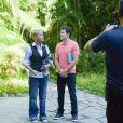 Xuxa foi entrevistada por Rodrigo Faro