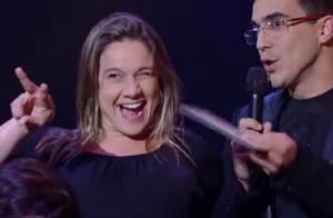 Fernanda Gentil canta música de Sandy & Junior no 'SuperStar': 'Telão não subiu'