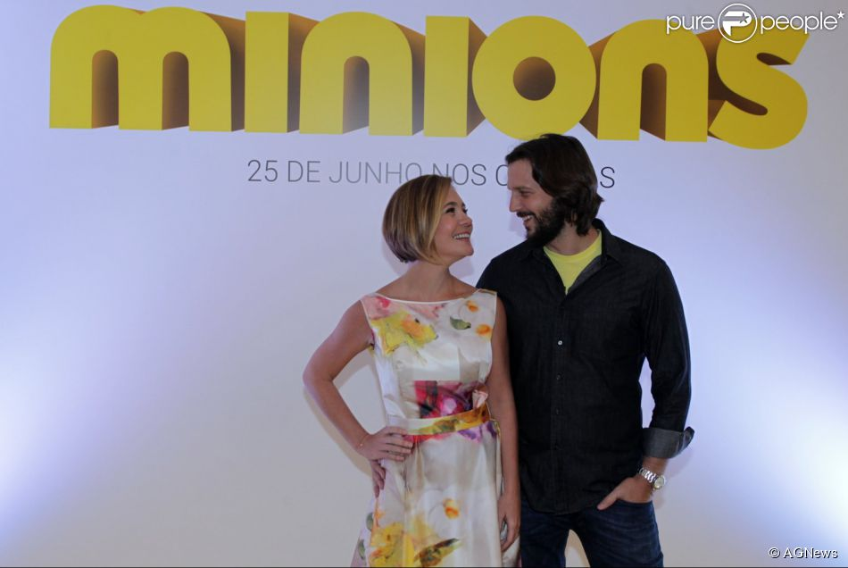 Adriana Esteves e Vladimir Brichta dublam a versão brasileira do filme 'Minions', que chega aos cinemas nesta quinta-feira, 25 de junho de 2015