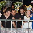 Belutii, da dupla com Marcos, também esteve no velório do sertanejo Cristiano Araújo, mortou por causa de uma hemorragia interna após ter sofrido um grave acidente de carro