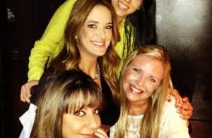 Ticiane Pinheiro, separada de Roberto Justus, curte noite com amigas no Rio