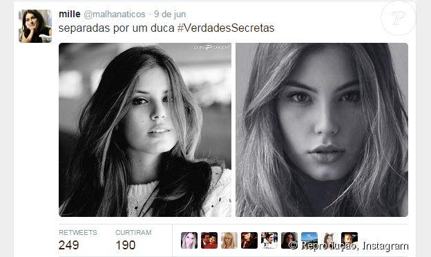 Internautas comentam semelhança entre a atriz de 'Verdades Secretas' Camila Queiroz e a atriz de 'Malhação' Bruna Hamú