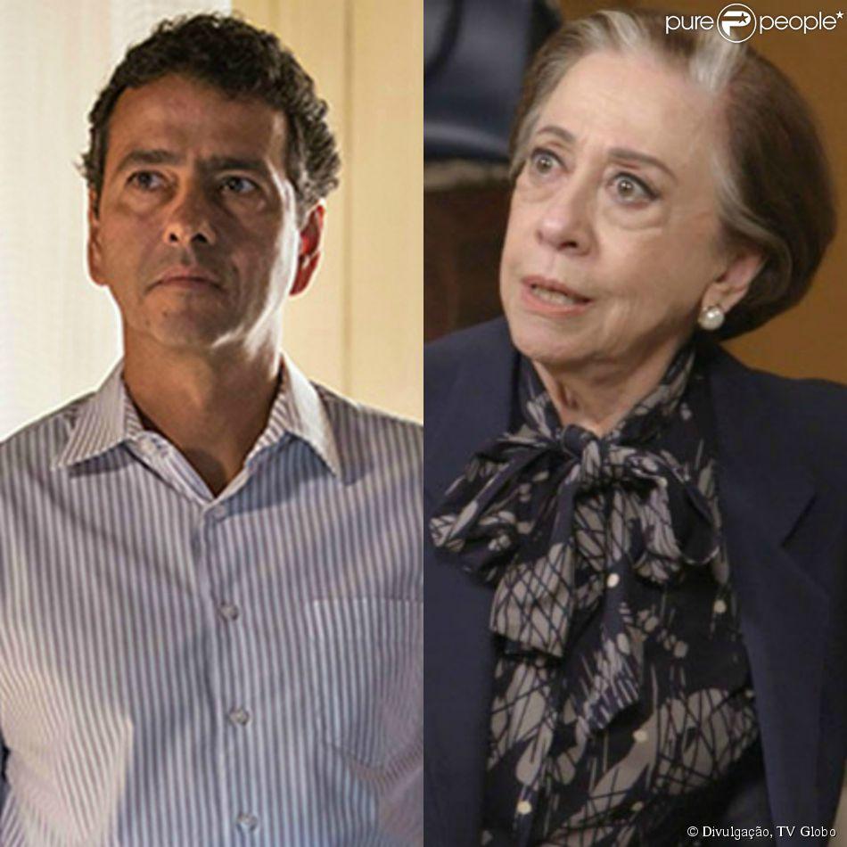 Teresa (Fernanda Montenegro) e Aderbal (Marcos Palmeira) vão discutir por causa de um kit homofóbico que será lançado pelo prefeito, na  novela 'Babilônia'