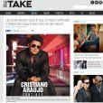 O portal americano 'Take Hollywood' tratou do falecimento de Cristiano Araújo e quetionou: 'O que aconteceu com o cantor brasileiro que morreu em acidente de carro'.