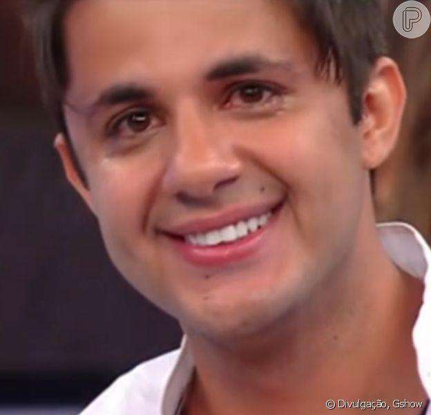 Cristiano Araújo se emocionou em 2013 em sua participação no 'Domingão do Faustão'