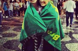 Flávia Alessandra, a filha Giulia e famosos vão às ruas do Brasil protestar