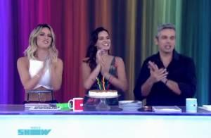Bruna Marquezine ganha bolo e comemora aniversário de 20 anos no 'Vídeo Show'