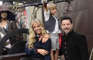 Vittorio, filho de Adriane Galisteu, se veste de pirata em aniversário de 5 anos