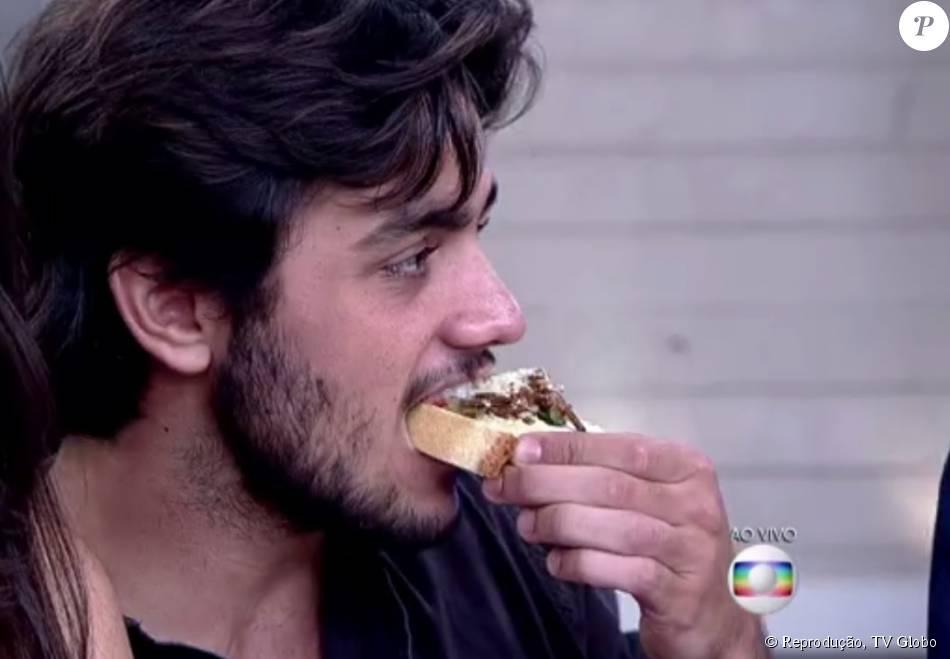 Felipe Simas provou bruschetta com larvas durante o 'Encontro com Fátima Bernardes' desta quarta-feira, 5 de agosto de 2015: ' Gostei muito do prato'