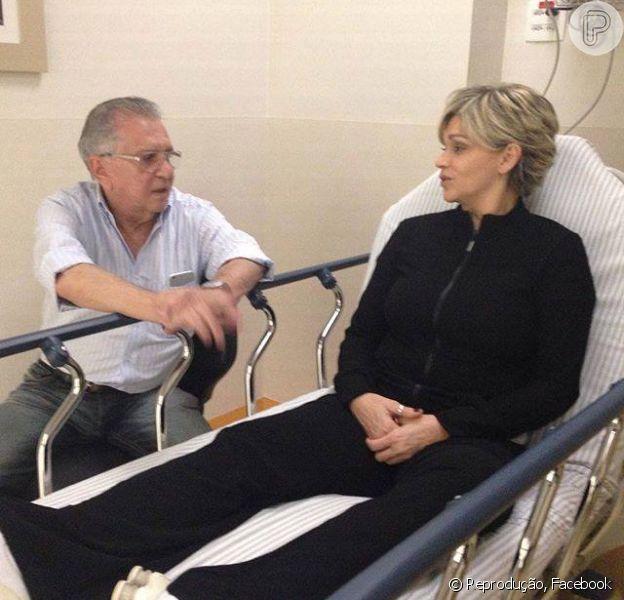 Andréa Nóbrega foi hospitalizada para realizar exames, após forte crise de dor na coluna, no início da tarde desta quarta-feira, 05 de agosto de 2015
