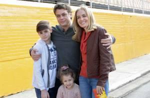 Fábio Assunção se diverte com filhos em homenagem aos Pais no 'Estrelas'