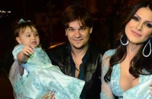 Leandro e Natália Guimarães comemoram aniversário de 2 anos das filhas gêmeas