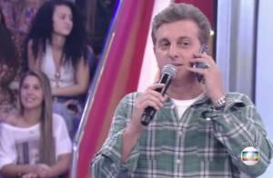 Luciano Huck telefona para Angélica ao vivo após problema técnico em áudio