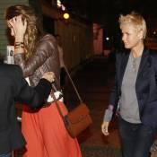 Xuxa janta com a filha, Sasha, e amigos após estreia de programa na Record