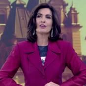 Fátima Bernardes mostra na TV paletó usado em sua estreia no 'Jornal Nacional'