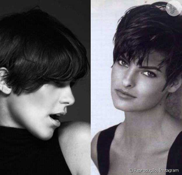 Isabella Santoni mudou o visual e cortou o cabelo com o beauty artist Max Weber. Sua inspiração foi a modelo internacional Linda Evangelista que fez muito sucesso nos anos 90