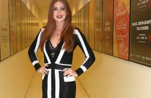 Marina Ruy Barbosa usa look Balmain de R$ 5.400 com lingerie à mostra em evento