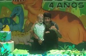 Neymar festeja aniversário de 4 anos de Davi Lucca em Barcelona: 'Papai te ama'