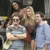 Monique Alfradique, Cris Vianna e Bruno Mazzeo gravam 'A Regra do Jogo' no Rio