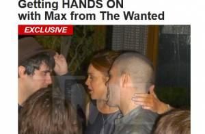 Lindsay Lohan é flagrada fazendo carinho em Max George, cantor do The Wanted