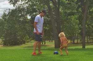 Gisele Bündchen posta foto do marido, Tom Brady, com a filha: 'Amor maior'