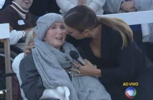 Mãe de Xuxa, dona Alda prestigia programa e recebe carinho de Ivete Sangalo